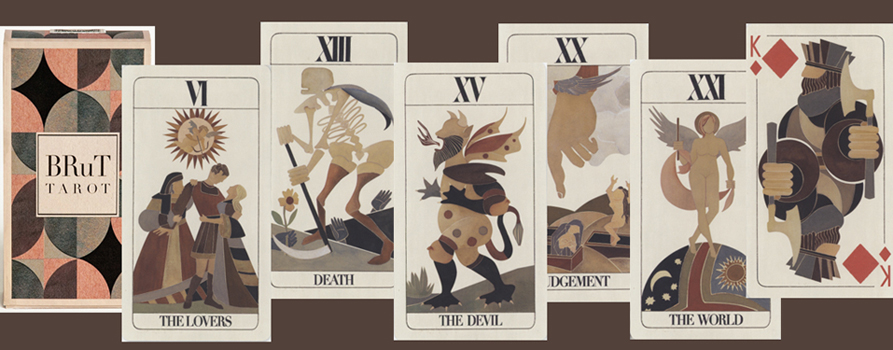 Brut Tarot by Uusi, printed by Expert Playing Cards, NYC
